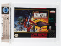 Super Star Wars: The Empire Strikes Back [THQ Rerelease] Wata 8.5 A Sealed SNES THQ 1997 USA