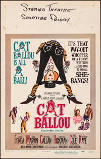"""Cat Ballou & Other Lot (Columbia, 1965). Fine/Very Fine. Window Cards (3) (14"""" X 22""""). Comedy. ... (Total:..."""