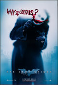 """Movie Posters:Action, The Dark Knight (Warner Bros., 2008). Folded, Very Fine+. One Sheet (27"""" X 40"""") DS, Advance, """"Why So Serious?"""" Style. Action..."""