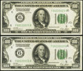 Consecutive Pair Fr. 2150-F $100 1928 Federal Reserve Notes. ... (Total: 2 notes)