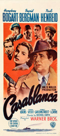 "Movie Posters:Academy Award Winners, Casablanca (Warner Bros., 1942). Very Fine- on Linen. Australian Daybill (13"" X 30"").. ..."
