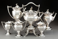 A Six-Piece Gorham Mfg. Co. Silver Tea and Coffee Service, Providence, Rhode Island, 1872 Marks to kettle: (lion-a