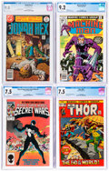 Bronze Age (1970-1979):Miscellaneous, Modern Age Comics CGC-Graded Comics Group of 4 (DC/Marvel, 1972-84).... (Total: 4 Items)