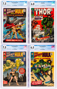 Marvel Silver Age CGC-Graded Group of 4 (Marvel, 1966-68).... (Total: 4 Items)