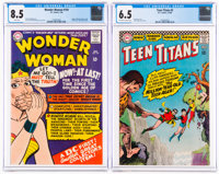 Wonder Woman #159 and Teen Titans #2 CGC-Graded Group (DC, 1966).... (Total: 2 Items)