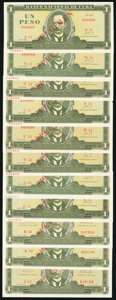 World Currency, A Selection of Twenty-Nine Specimen Notes from Cuba Dated from the 1960s and 1 Specimen Example of a Banco Nacional De Cuba Tr... (Total: 30 notes)
