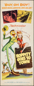 "Movie Posters:Animation, Mr. Bug Goes to Town (Paramount, R-1959). Rolled, Fine/Very Fine. Insert (14"" X 36"") Reissue Title: Hoppity Goes to Town..."