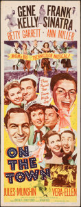 """Movie Posters:Musical, On the Town (MGM, 1949). Folded, Fine+. Insert (14"""" X 36""""). Musical.. ..."""