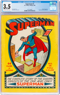 Superman #1 (DC, 1939) CGC VG- 3.5 Off-white to white pages