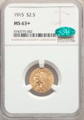 Indian Quarter Eagles, 1915 $2 1/2 MS63+ NGC. CAC. NGC Census: (1800/1352). PCGS Population: (1401/1158). CDN: $475 Whsle. Bid for NGC/PCGS MS63. ...