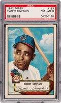 Baseball Cards:Singles (1950-1959), 1952 Topps Harry Simpson #193 PSA NM-MT 8 - Only Four Higher. ...