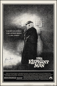 "The Elephant Man (Paramount, 1980). Fine/Very Fine on Linen. Autographed One Sheet (27"" X 41""). Drama"