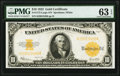 Large Size:Gold Certificates, Fr. 1173 $10 1922 Gold Certificate PMG Choice Uncirculated 63 EPQ.. ...