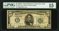Fr. 1951-B* $5 1928A Federal Reserve Note. PMG Choice Fine 15