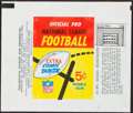 Football Cards:Lots, 1950's - 1980's Bowman, Fleer, Philadelphia & Topps Football Wrappers Collection (42). ...