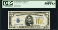 Fr. 2307* $5 1934A North Africa Silver Certificate Star. PCGS About New 50PPQ
