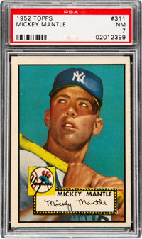 1952 Topps Mickey Mantle #311 PSA NM 7