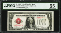 Fr. 1500 $1 1928 Legal Tender Note. PMG About Uncirculated 55