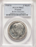 German States: Prussia. Wilhelm II Proof 3 Mark 1910-A PR62 PCGS