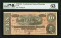 Confederate Notes:1864 Issues, T68 $10 1864 PF-44 Cr. 552 PMG Choice Uncirculated 63.. ...