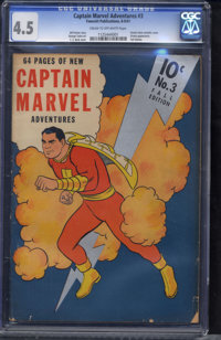 Captain Marvel Adventures #3 (Fawcett Publications, 1941) CGC VG+ 4.5 Cream to off-white pages