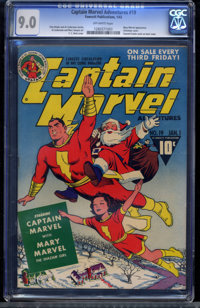 Captain Marvel Adventures #19 (Fawcett Publications, 1943) CGC VF/NM 9.0 Off-white pages