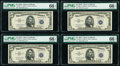 Fr. 1656* $5 1953A Silver Certificates. Twelve Consecutive Examples. PMG Graded
