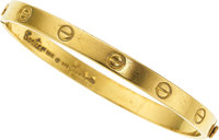 Gold Bracelet, Aldo Cipullo for Cartier ... (Total: 2 Items)