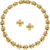 Gold Jewelry Suite, Tiffany & Co. ... (Total: 2 Items)