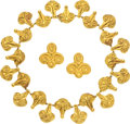 Estate Jewelry:Necklaces, Gold Jewelry Suite, Lalaounis. ... (Total: 2 Items)