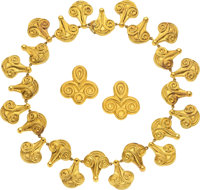 Gold Jewelry Suite, Lalaounis ... (Total: 2 Items)