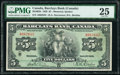 World Currency, Canada Montreal, PQ- Barclays Bank $5 3.9.1929 Ch.# 30-10-02b PMG Very Fine 25.. ...