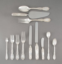 A One Hundred and Ninety-Piece Tiffany & Co. Chrysanthemum Pattern Silver Flatware Service f