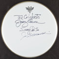 Autographs:Others, Post-Buddy Holly 'The Crickets' Signed Drumhead Th...