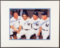 Autographs:Photos, New York Yankees Legends Multi Signed Oversized Photograph - Mantle, Berra, Ford and DiMaggio!...