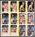 Basketball Cards:Lots, 1986 Fleer Stickers Basketball Collection (34)....