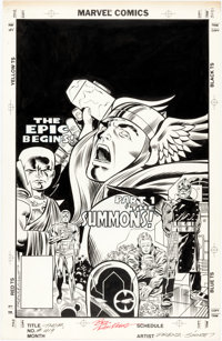 Ron Frenz and Joe Sinnott Thor #419 Cover Original Art (Marvel Comics, 1990)