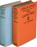 Books:First Editions, C. T. Stoneham. Kaspa the Lion Man. A Romance. London: Methuen & Co. Ltd., [1933]. First edition.... (Total: 2 Items)