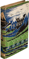 "Books:First Editions, J. R. R. Tolkien. The Hobbit. Or There and Back Again. London: George Allen & Unwin Ltd, [1956]. Stated ""eighth ..."