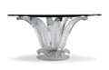 Furniture, Lalique Clear and Frosted Glass Cactus Center Table Designed by Marc Lalique, designed 1951. Marks: LALIQUE ...