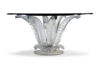 Lalique Cactus Clear and Frosted Glass Center Table Designed by Marc Lalique, design