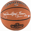 "Basketball Collectibles:Balls, 2017 Julius ""Dr. J"" Erving Single Signed Basketball...."