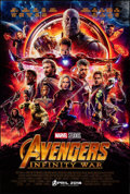 """Movie Posters:Action, Avengers: Infinity War (Walt Disney Pictures, 2018). Rolled, Very Fine+. One Sheet (27"""" X 40"""") DS, Advance. Action.. ..."""