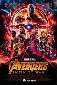 """Avengers: Infinity War (Walt Disney Pictures, 2018). Rolled, Very Fine+. One Sheet (27"""" X 40"""") DS, Advance. Ac..."""