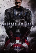 """Movie Posters:Action, Captain America: The First Avenger (Paramount, 2011). Rolled, Very Fine/Near Mint. One Sheet (27"""" X 39.5"""") DS, Advance. Acti..."""
