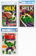 Silver Age (1956-1969):Superhero, The Incredible Hulk #106, 107, and 116 Certified Group (Marvel, 1968-69).... (Total: 3 Comic Books)