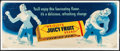 """Movie Posters:Miscellaneous, Juicy Fruit (Wrigley's, c. 1940s). Fine+. Advertising Poster (28"""" X 11""""). Miscellaneous.. ..."""