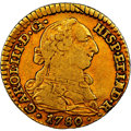 Spain: Charles III gold Escudo 1780 S-CF VF30 NGC