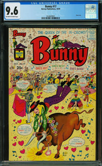 Bunny #17 (Harvey, 1970) CGC NM+ 9.6 Off-white to white pages