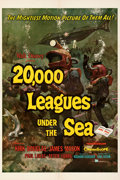 Movie Posters:Science Fiction, 20,000 Leagues Under the Sea (Buena Vista, 1954). Very Fin...